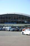 De eindbouw van de luchthaven Stock Foto's