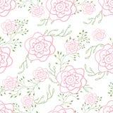 De eindeloze decoratie van patroon leuke rozen voor stoffen of verpakking vector illustratie