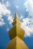 De Eindeloze Kolom (Kolom van Oneindig), Targu Jiu Stock Foto