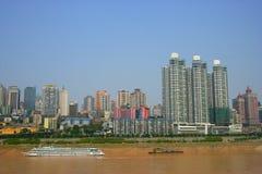 De eindkant van het toerisme van de Rivier Yangtze in Chon Stock Foto