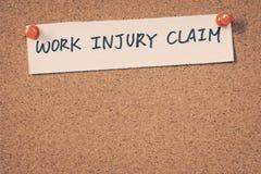 De eis van de het werkverwonding stock afbeelding