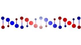De eiwitketting van DNA Stock Foto's