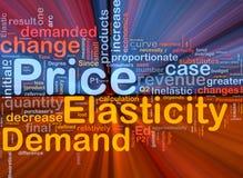 De elasticiteits het van de achtergrond prijs concept gloeien Royalty-vrije Stock Afbeeldingen