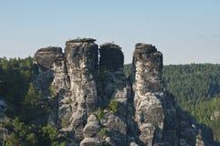 De Elbe Bergen van het Zandsteen Stock Foto's