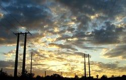 de electricidade postes Royaltyfri Foto