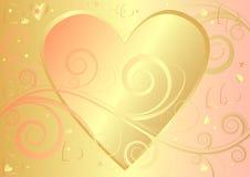De elegante achtergrond van de valentijnskaart met hart (vector) Stock Foto