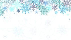 De elegante Achtergrond van Kerstmis Gebruik uw webpagina, frontpage, kaart, uitgenodigde kaart Sneeuwvlokkenornament stock illustratie