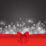 De elegante achtergrond van Kerstmis met sneeuwvlokken en plaats voor tekst Vector illustratie Royalty-vrije Stock Afbeeldingen