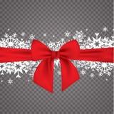 De elegante achtergrond van Kerstmis met sneeuwvlokken en plaats voor tekst Vector illustratie Royalty-vrije Stock Foto's