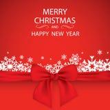 De elegante achtergrond van Kerstmis met sneeuwvlokken en plaats voor tekst Vector illustratie Royalty-vrije Stock Foto