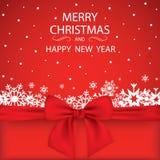 De elegante achtergrond van Kerstmis met sneeuwvlokken en plaats voor tekst Vector illustratie Royalty-vrije Stock Afbeelding