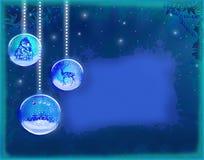 De elegante achtergrond van Kerstmis met snuisterijen vector illustratie