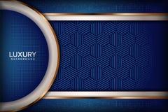 De elegante achtergrond van luxueuze marinekoningsblauwen royalty-vrije illustratie