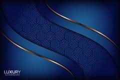 De elegante achtergrond van luxueuze marinekoningsblauwen stock illustratie