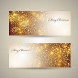 De elegante banners van Kerstmis Royalty-vrije Stock Foto's