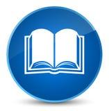 De elegante blauwe ronde knoop van het boekpictogram Royalty-vrije Stock Foto
