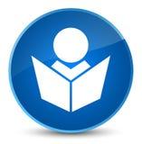 De elegante blauwe ronde knoop van het Elearningspictogram Royalty-vrije Stock Foto's