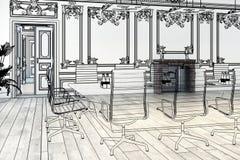 De elegante conceptie van het Vergaderingsgebied vector illustratie
