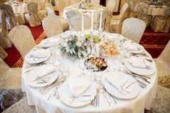 De elegante decoratie van de huwelijkslijst royalty-vrije stock fotografie