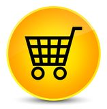 De elegante gele ronde knoop van het elektronische handelpictogram vector illustratie