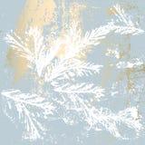De elegante gouden druk van de de winterpastelkleur Royalty-vrije Stock Foto