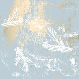De elegante gouden druk van de de winterpastelkleur Stock Afbeelding