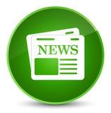 De elegante groene ronde knoop van het krantenpictogram Royalty-vrije Stock Fotografie
