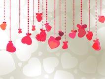 De elegante illustratie van de Valentijnskaart of van het huwelijk. EPS 8 Royalty-vrije Stock Foto