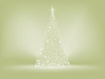 De elegante kaart van de Kerstmisboom. EPS 8 Royalty-vrije Stock Afbeelding