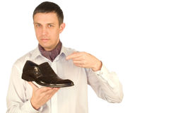 De elegante man maakt de keus Stock Afbeelding