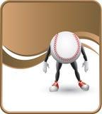 De elegante mens van het honkbalbeeldverhaal Stock Illustratie