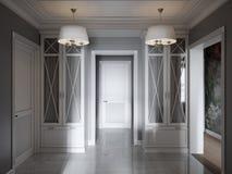 De elegante Moderne Klassieke Provence en Luxueus Hall Interior Royalty-vrije Stock Foto's