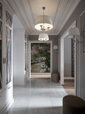 De elegante Moderne Klassieke Provence en Luxueus Hall Interior Stock Fotografie