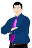 De elegante opleggende zakenman Stock Afbeeldingen