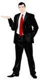 De elegante opleggende zakenman Royalty-vrije Stock Foto