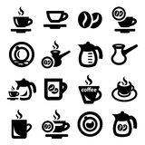De Pictogrammen van de koffie Royalty-vrije Stock Afbeeldingen