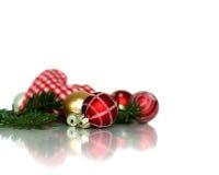 De elegante reeks van de Kerstmisdecoratie Stock Afbeeldingen