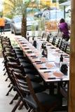 De elegante Restaurantdienst van reserve royalty-vrije stock fotografie