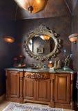 De elegante tegenbovenkant van de badkamersgootsteen Royalty-vrije Stock Fotografie