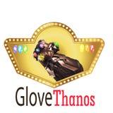 De elegante Thanus-vector van het handembleem royalty-vrije illustratie