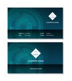 De elegante vector van het adreskaartjemalplaatje Royalty-vrije Stock Afbeeldingen