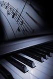 De elegantie van de piano Stock Afbeelding