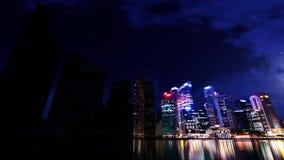 De Elektriciteitspanne van stadswolkenkrabbers stock footage