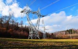 De elektriciteitspyloon Stock Fotografie