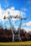 De elektriciteitspyloon Royalty-vrije Stock Afbeeldingen