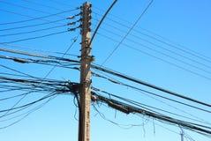 De elektriciteitspyloon II van Santiago Stock Fotografie