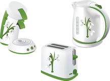 De elektrisch apparaten van de keuken Stock Afbeeldingen
