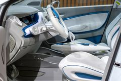 De elektrische auto van Renault Zoe Royalty-vrije Stock Foto's