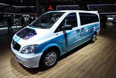 De Elektrische Bestelwagen van Viano van Benz van Mercedes Stock Foto's
