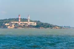 De elektrische centrale bij de kust kinmen binnen, Taiwan Royalty-vrije Stock Afbeeldingen